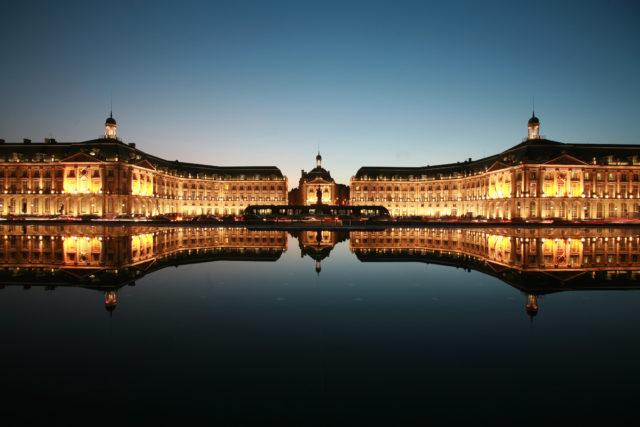 IMAGE: Photo showing Place de la Bourse, one of the most important buildings in Bordeaux