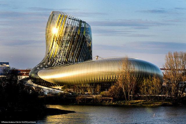 IMAGE: Photo showing the futuristic new building of the Cité du Vin in Bordeaux